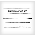 Hand drawn charcoal brush set Scalable grunge vector image vector image