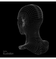 Head of the Person from a 3d Grid Human Wire vector image vector image
