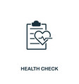 health check icon premium style design from vector image vector image