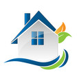 house home environment friendly logo vector image vector image