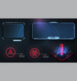 hud ui gui futuristic user interface screen vector image vector image