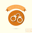 icon handcuffs symbol of justice police icon vector image vector image