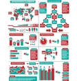 INFOGRAPHIC DEMOGRAPHICS 11 RED vector image vector image