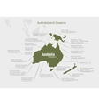 infographics continent Australia and Oceania green vector image vector image