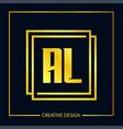 initial letter al logo template design vector image