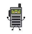 kawaii walkie talkie communication radio cartoon vector image