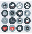 Lifestyle symbols flat icons set vector image
