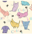 Little kittens pattern vector image vector image