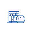 living room line icon concept living room flat vector image vector image