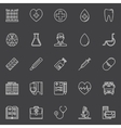 Medical line icons set vector image