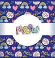 meow pattern background vector image
