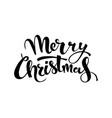 merry christmas handwritten lettering black text vector image vector image