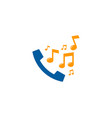 music call logo icon design vector image