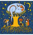 original doodle artistic halloween card