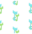 pattern with drawing of cute origami cats vector image vector image