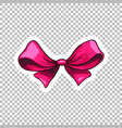 pink bow hand drawn cartoon vector image vector image