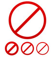prohibition no permission sign vector image vector image