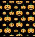 pumpkin halloween pattern vector image vector image