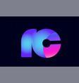 rc r c spink blue gradient alphabet letter vector image vector image