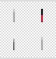realistic liquid lipstick contour style kit brow vector image vector image