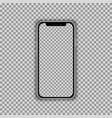 realistic smartphone screen template isolated on vector image vector image