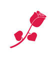 rose flower gift silhouette graphic vector image