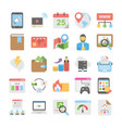seo and digital marketing colored icons 2 vector image vector image