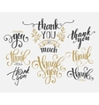 set custom thank you hand lettering vector image