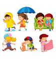 set of children character vector image vector image
