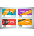 Set of gift cards in the style of the material vector image vector image