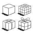 set sketched boxes vector image