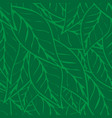 simply green tea leaves seamless pattern vector image