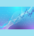 stock market graph or forex trading chart vector image vector image