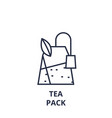tea pack line icon outline sign linear symbol vector image vector image