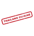 Thailand Cuisine Rubber Stamp vector image vector image