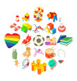 time for games icons set cartoon style vector image vector image