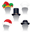 various hats and caps vector image vector image