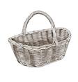 Vintage Basket In Woodcut Style vector image