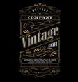 vintage typography western frame label border vector image vector image