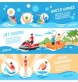 Water Sport Banners Set vector image vector image