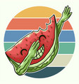 watermelon cool dabbing vector image vector image