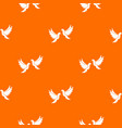 wedding doves pattern seamless vector image vector image