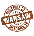 welcome to warsaw vector image vector image