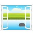 Window in nature vector image vector image