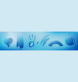 wipe stains on glass with condensation water drops vector image vector image