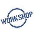 workshop stamp vector image vector image