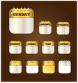 Days label design element vector image