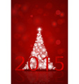 2015 Happy New Year background with Christmas tree vector image vector image
