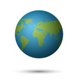 3d planet earth on white background vector image vector image
