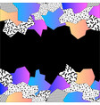 80s style mosaic border vector image vector image